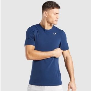 Gymshark Shirts - Gymshark Critical T-shirt - Sapphire Blue (XL)